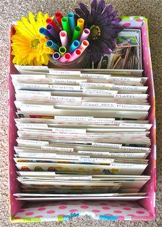 teachers - organize all those stickers!