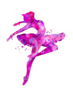 Pink ballerina 1 ballerina print ballerina by FluidDiamondArt