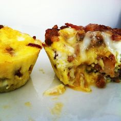 Paleo Breakfast: Bacon Sausage Egg Bites