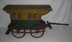Ltd Toy Stamp & Large Gypsy Circus Wagon Folk Art Play House One of A Kind