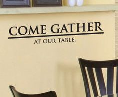 Gather Dining Vinyl Wall Art Inspirational by DecalsForTheWall, $22.97