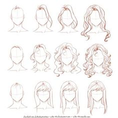 DeviantArt: More Collections Like EASY anime hair tutorial by ryky