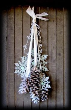 Image result for winter solstice mobile pine cones