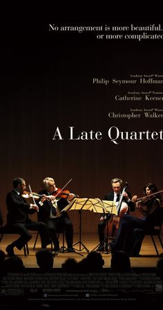 A Late Quartet (2012) with Philip Seymour Hoffman, Christopher Walken and Catherine Keener. About a string quartet struggling to stay together when one member is diagnosed with a disease that will make performing impossible. The story and some of the characters are a little contrived, though Philip Seymour Hoffman and Christopher Walken are wonderful. Unfortunately completely overshadowed by the untimely and very sad death of Philip Seymour Hoffman today. (2.2.2014)