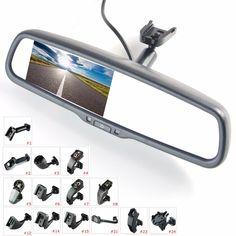 """4.3 """"TFT LCD 백미러 자동차 모니터 비디오 입력 채널 특별한 장착 브래킷"""