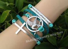 MockingJay pin braceletfashion jewelrycouple by Multilayerjewelry, $5.99