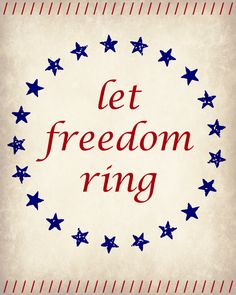 Let Freedom Ring Printable   LITTLE RED BRICK HOUSE