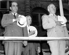 Los presidentes de Venezuela y USA, Rómulo Gallegos y Harry Truman, conmemorando el 4 de julio. 1948.