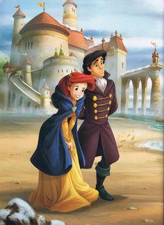 Ariel and Eric, The Little Mermaid Ariel Disney, Walt Disney, Disney Little Mermaids, Disney Nerd, Disney Fan Art, Cute Disney, Disney Girls, The Little Mermaid, Disney Animation