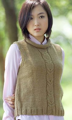 Ravelry: 26-27-16 Owl Cable Vest pattern by Pierrot (Gosyo Co., Ltd) - Free Pattern Available