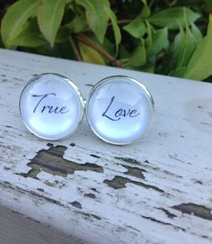 Valentines Day Gift Groom Cuff links Wedding by OverTheMoonBridal