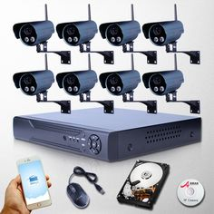 1052.99$  Buy here - http://alidsv.worldwells.pw/go.php?t=32522030798 - 8CH 1080P Megapixel HD WIFI Camera IP Network NVR Kit Array IR Night Vision Video Wireless Surveillance CCTV Security System 1052.99$