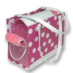 Petmate Soft Sided Pet Carrier Small, Pink/White Polka Dot