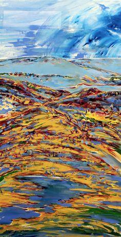 Title : Vertigo de Alegria  2018 Oil on canvas : 139X77cm (SOLD - Raubenheimer)