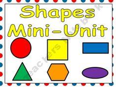 Shapes Mini-Unit for Kindergarten