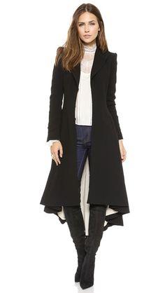 alice + olivia Bain Pleated Long Coat