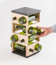 love this. geometric wine rack by DesignedForEverydays Wine Rack Wall, Wood Wine Racks, Wood Wine Holder, Palette Deco, Wine House, Wine Display, Wine Craft, Rack Design, Modern Door