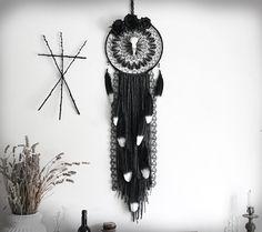 Pre-commande Salem . attrape-rêves véritable crâne de corbeau