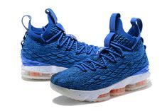 b67edce741c Nike LeBron 15 XV EP Mens Original Basketball Shoes Dark Blue Orange White  Soccer Shoes