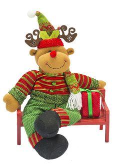 Boneco - Classic no Banco Sort/ Diagonal. Reindeer, Snowman, Christmas Crafts, Christmas Ornaments, Wonderful Time, Tigger, Elf, Merry, Seasons