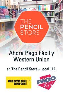 Ahora en The Pencil Store también podes pagar tus facturas o enviar dinero.