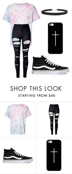 """""""Tie Dye and Crosses"""" by melchristie on Polyvore featuring The Elder Statesman, WithChic, Vans, Casetify and Humble Chic"""