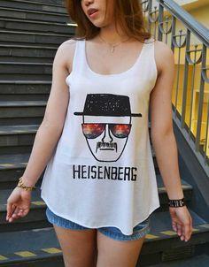 Heisenberg Glasses Space Breaking Bad Shirt Tank-Top White Ladies Size SMALL MEDIUM on Etsy, 11,19€