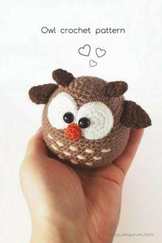 Cute crochet animals, amigurumi patterns #amigurumi #crochet #pattern #cuteanimals #etsy #pdfpattern #crochetpattern #amigurumipattern #häkeln #ganchillo #kroşe #crochê #owl #crochetowl #crochetideas #crochetaddict #crochetlove
