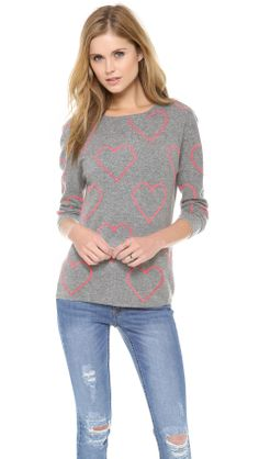 Chinti And Parker | Allover Heart Sweater
