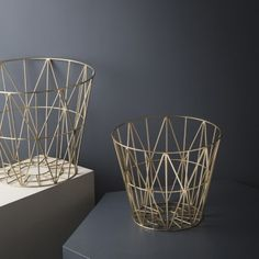 Ferm Living Wire Basket Drahtkorb Messing
