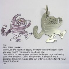 your child's drawing on jewelry - www.formiadesign.com