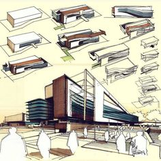 Those Amazing… Architecture Sketches – Architecture Admirers Architecture Design Concept, Architecture Baroque, Architecture Graphics, Architecture Board, Architecture Student, Architecture Drawings, Amazing Architecture, Building Design, Facade