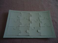 PUZZLE A DECORER - 12 pièces - dimensions 22 * 14 cm