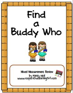 Classroom Freebies: Measurement with Find a Buddy Who Measurement Activities, Math Measurement, Math Activities, Leadership Activities, Classroom Freebies, Math Classroom, Classroom Ideas, Future Classroom, Cooperative Learning Strategies
