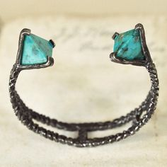 Turquoise Prism Cuff by Unearthen