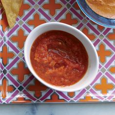Habanero Salsa | Habanero chiles are incredibly fiery but their naturally fruity flavor is delicious with the orange juice in the salsa here. To make the salsa even sweeter (which helps balance the heat), the chiles and onions are roasted before being blended with the other ingredients.