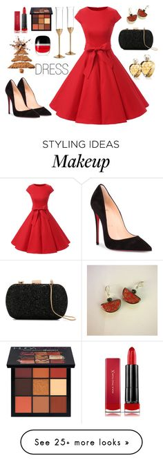 """ASK #89"" by artstudiokatherine on Polyvore featuring Christian Louboutin, Wedgwood, Huda Beauty, Max Factor, Untold, Le Lis Blanc and Marc Jacobs"