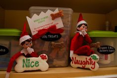 Naughty or Nice... Our elves are in the dog biscuits, WORST COOKIES EVER!