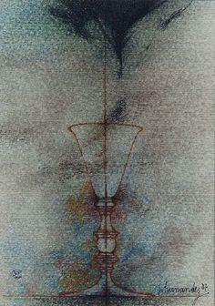 Elixir (1987) Dibujo 8 x 12 Cm.