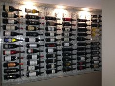 Home of the Editor: Wine Wall http://www.styledtosparkle.com/food/wine-spirits/home-of-the-editor-the-wine-wall/