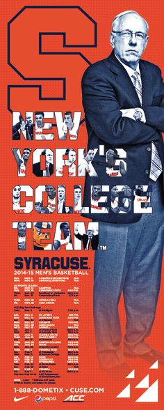 Syracuse basketball is a big thing in my family and everyone in my family loves Jim. Syracuse Basketball, Celtics Basketball, Basketball Posters, Sports Posters, Sports Organization, College Game Days, Syracuse University, Sports Marketing, Football Design