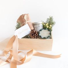 "CURATED HOLIDAY GIFT BOX by Marigold & Grey - The ""Tidings of Joy"" is perfect for client gifts, corporate gifts, family and friends. Offered with FREE SHIPPING and a handwritten message on your behalf. image: Laura Metzler Photography"