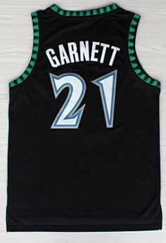 af5dd020c High Quality Stitched  21 Kevin Garnett Jerseys Black Blue White Basketball  Jerseys Embroidery Logos Throwback Cheap