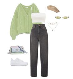 Green Indie Outfits, Teen Fashion Outfits, Retro Outfits, Look Fashion, Vintage Outfits, Prep Fashion, Fashion Tips, Cute Comfy Outfits, Stylish Outfits