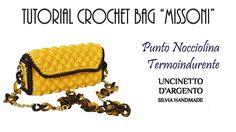"""TUTORIAL CROCHET BAG """"MISSONI"""" - with subtitles - Punto nocciolina croch..."""