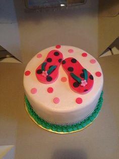 Flip flop cake Flip Flop Cakes, Cake Ideas, Claire, Holland, Birthday Cake, Desserts, Summer, Food, The Nederlands