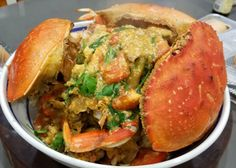 """Join 10 people right now at """"Chinese New Year Singapore Chili Crab"""" Recipe Using Tomatoes, My Recipes, Cooking Recipes, Crab Stuffed Shrimp, Prawn Shrimp, Egg Drop Soup, Fried Vegetables, Chinese Restaurant, Food Reviews"""
