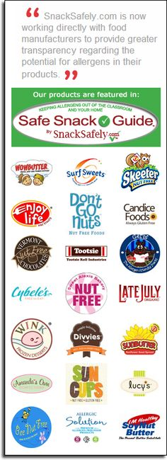 Manufacturers Join SnackSafely.com in Drive for Greater Transparency in Food Allergen Disclosures
