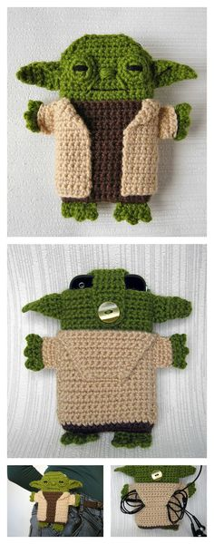 Crochet Star Wars Yoda Phone Case Pattern