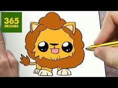 Comment dessiné un kawaï lion?